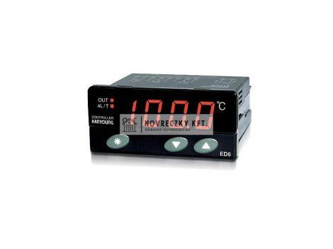 ED6-FPMAP4  Elektronikus termosztát Pt100 1 relékimenet, alar,100-240VAC, -100...400C