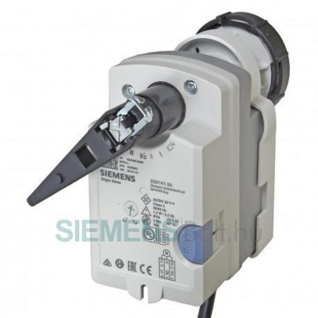 Siemens GSD141.9A Forgatómotor VAI60 és VBI60 golyóscsapokhoz Nyit/Zár vezérléssel rugóvisszatérítéssel