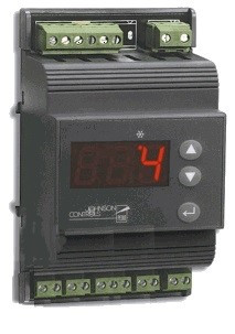 Johnson Controls MS4DR230T-1C 4 fokozatú digitális termosztát 230Vac,DIN sínre,hőm. érzékelővel, -40 … +70C, IP54
