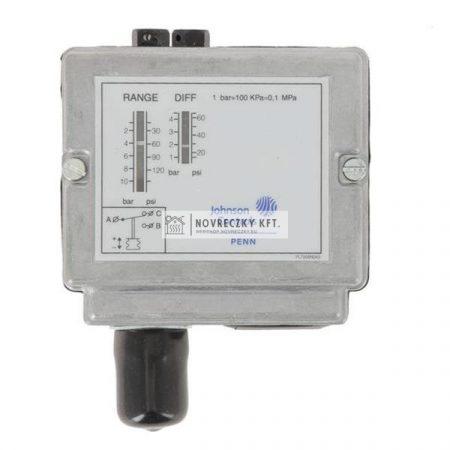"""Johnson-Controls P48AAA9130 Nyomáskapcsoló gőzhöz,levegőhöz,vízhez 1..10bar,IP54,1-4,5bar diff.,100°C,15bar,3/8"""""""