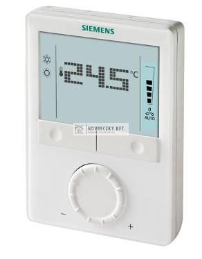 Siemens RDG110 univerzális fűtő/hűtő termosztát AC 230 V,ON/OFF relé (SPDT) kimenetekkel,LCD kijelző háttérvilágított