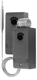 Johnson-Controls A19AAC-9108 kapilláris termosztát 2m, +90...+290C, érzékelő 5x180mm