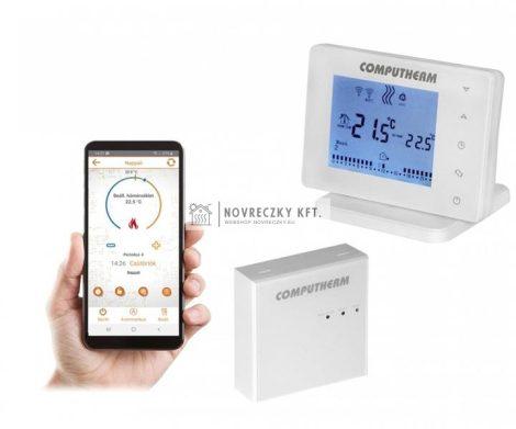 Computherm E400RF Wifi termosztát vezeték nélküli érintőgombos vezérlővel