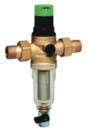 Honeywell FK06-1AA vízszűrő+nyomcsökk öblíth. KM+holl DN25 100µm 40°C PN16 kvs=6