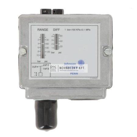 """Johnson-Controls P48AAA9120 Nyomáskapcsoló gőzhöz,levegőhöz,vízhez 0,2-4bar,IP54,0,25-0,8bar diff.,100°C,8bar,3/8"""""""