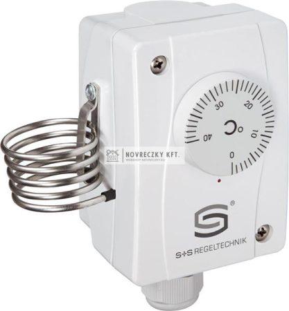 S+S  TR-060 ipari termosztát 0-60C, 2K hiszterézis, IP65, külső állítású (1102-1050-1100-300)